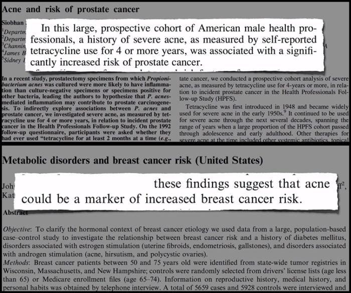 A tej és az akné mellrákot és prosztatarákot okozhat