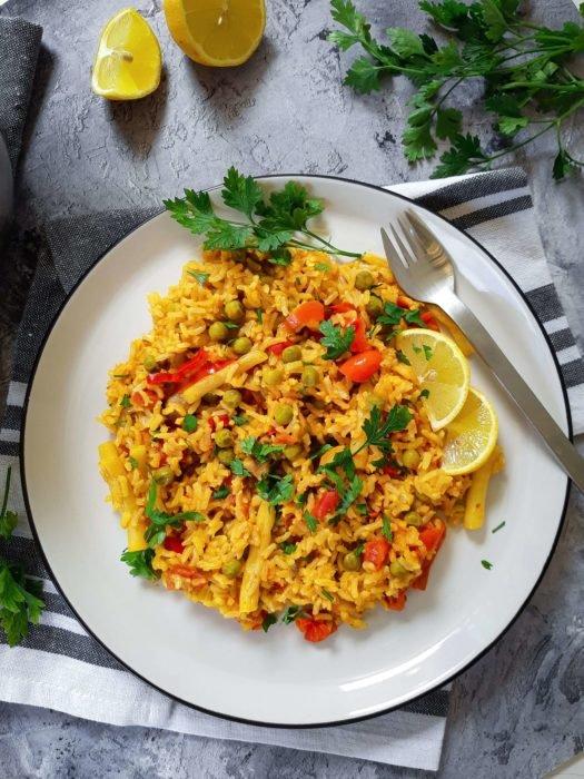 Vegán zöldségpaella recept