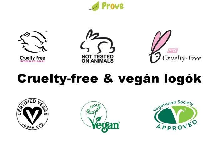 Vegán és cruelty-free logók