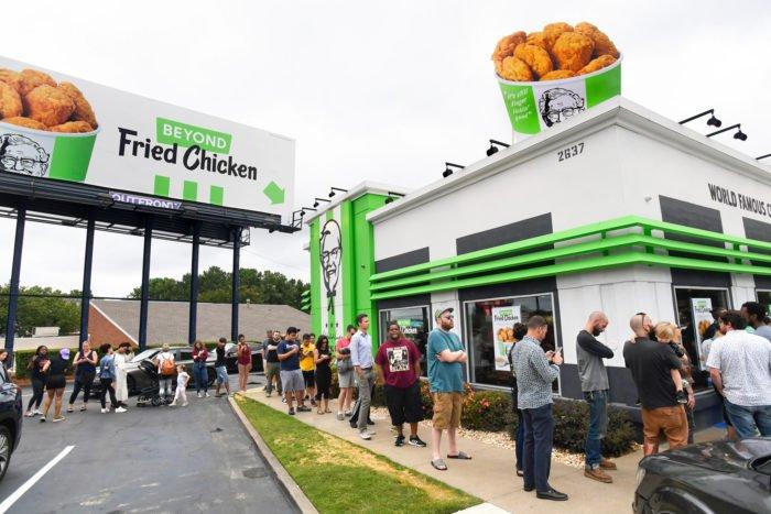 KFC vegán csirkeszárnyak
