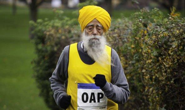Fauja Singh vegetáriánus futó