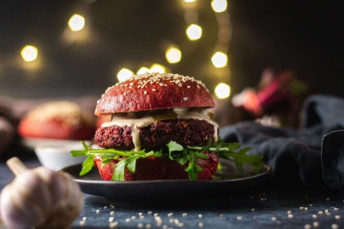 Veganuár hamburger