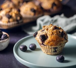Áfonyás-mákos muffin