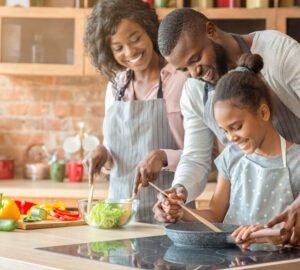 Afroamerikai család vegán étrenden