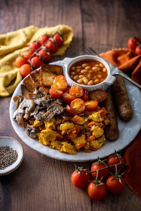 Angol reggeli vegán recept