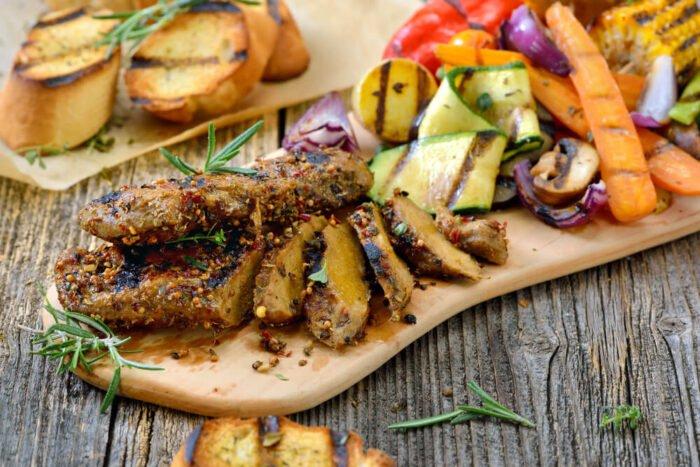 Grillezett vegán steak szejtánból
