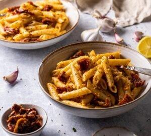 Szárított paradicsomos tészta recept - vegán