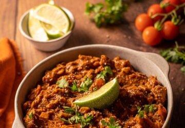 chili sin carne vegán recept